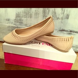 Nude flats with cut outs